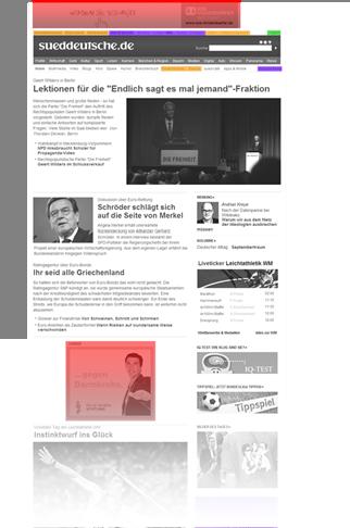Tageszeitung Analyse Sueddeutsche Vorschau