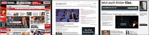 Analyse von drei grossen deutschen Tageszeitungen